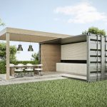 Container tuinhuis en veranda